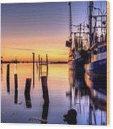 Daybreak On Pensacola Bay Wood Print