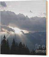 Daybreak Over Lepontine Alps Wood Print by Agnieszka Ledwon