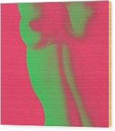Dayglo Nude Wood Print