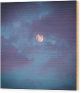 Daylight Moon Wood Print