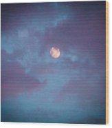 Daylight Moon Wood Print by Robert J Andler