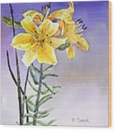 Daylilies Wood Print