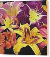 Daylily Banner Wood Print