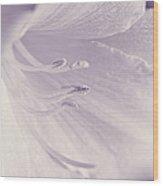 White Daylily Flower Soft Lavender Wood Print