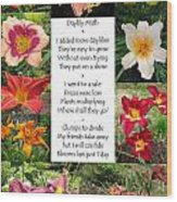 Daylily Math Wood Print