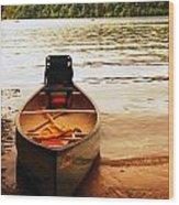Days End At Walden Pond Wood Print