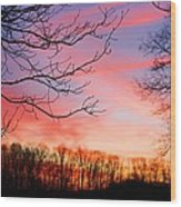 Day's End Wood Print
