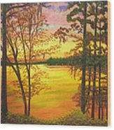 Day's End On Lake Talquin Wood Print