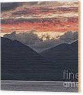 Days End On Lake Wakatipu Wood Print