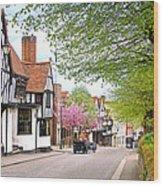Days Gone By In Bishop's Stortford High Street Wood Print