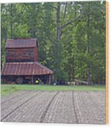 Days Gone By--tobacco Barn Series  Wood Print