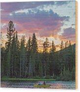 Day's Last Light Wood Print