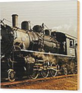 Days Of Steam And Steel Wood Print by Jeff Swan