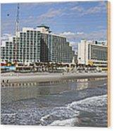 Daytona Beach Panorama Wood Print