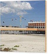 Daytona Beach Pier Pano Wood Print