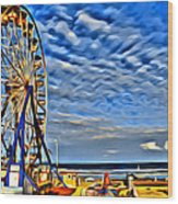 Daytona Ferris Wheel Wood Print