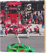 Daytona Speedway Race View Wood Print