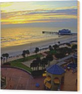 Daytona's Dawn Wood Print