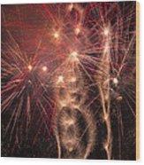 Dazzling Fireworks Wood Print