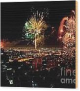 Dazzling Fireworks Iv Wood Print