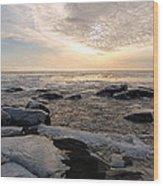 Dazzling Winter On Lake Superior Wood Print