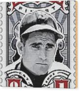 Dcla Bobby Doerr Fenway's Finest Stamp Art Wood Print by David Cook Los Angeles