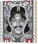 Dcla Jim Rice Fenway's Finest Stamp Art Wood Print by David Cook Los Angeles