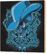 Dcla Skull Cowboy Cold Dead Hand 2 Wood Print by David Cook Los Angeles