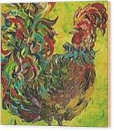 De Colores Rooster #2 Wood Print