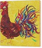 De Colores Rooster Wood Print