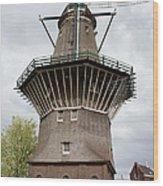 De Gooyer Windmill In Amsterdam Wood Print