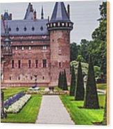 De Haar Castle 2. Utrecht. Netherlands Wood Print