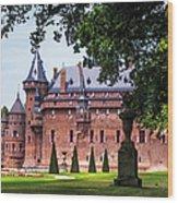 De Haar Castle 3. Utrecht. Netherlands Wood Print by Jenny Rainbow