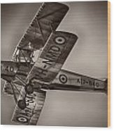 De Havilland Dh-82a Tiger Moth V5 Wood Print