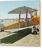 De-havilland Tiger Moth Wood Print