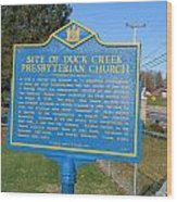 De-kc81 Site Of Duck Creek Presbyterian Church Wood Print