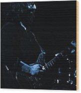 Dead #10 In Blue Wood Print