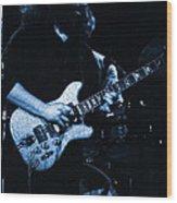 Dead #13 In Blue Wood Print