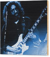 Dead #20 In Blue Wood Print