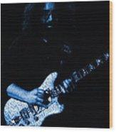 Dead #32 In Blue Wood Print