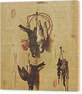 Dead Birds Oil On Canvas Wood Print