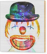 Dead Clown Wood Print