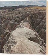 Dead End Trail In Badland National Park South Dakota Wood Print