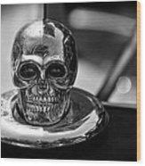 Dead Head Hood Ornament Wood Print