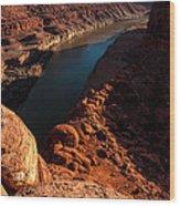 Dead Horse Point Colorado River Bend Wood Print