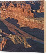 Dead Horse Point Sunrise Panorama Wood Print