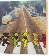 Dead On Abbey Road Wood Print