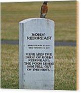 Dead Robin Wood Print