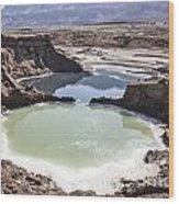 Dead Sea Sinkholes  Wood Print
