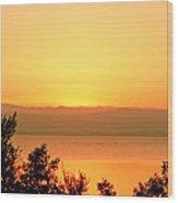 Dead Sea Sunset Wood Print